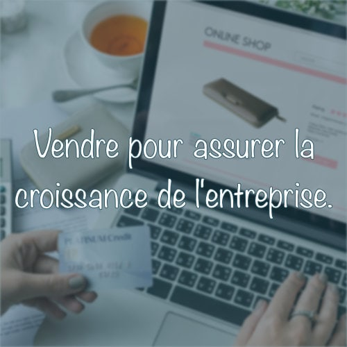 Le premier des 5 S du marketing digital est Sell