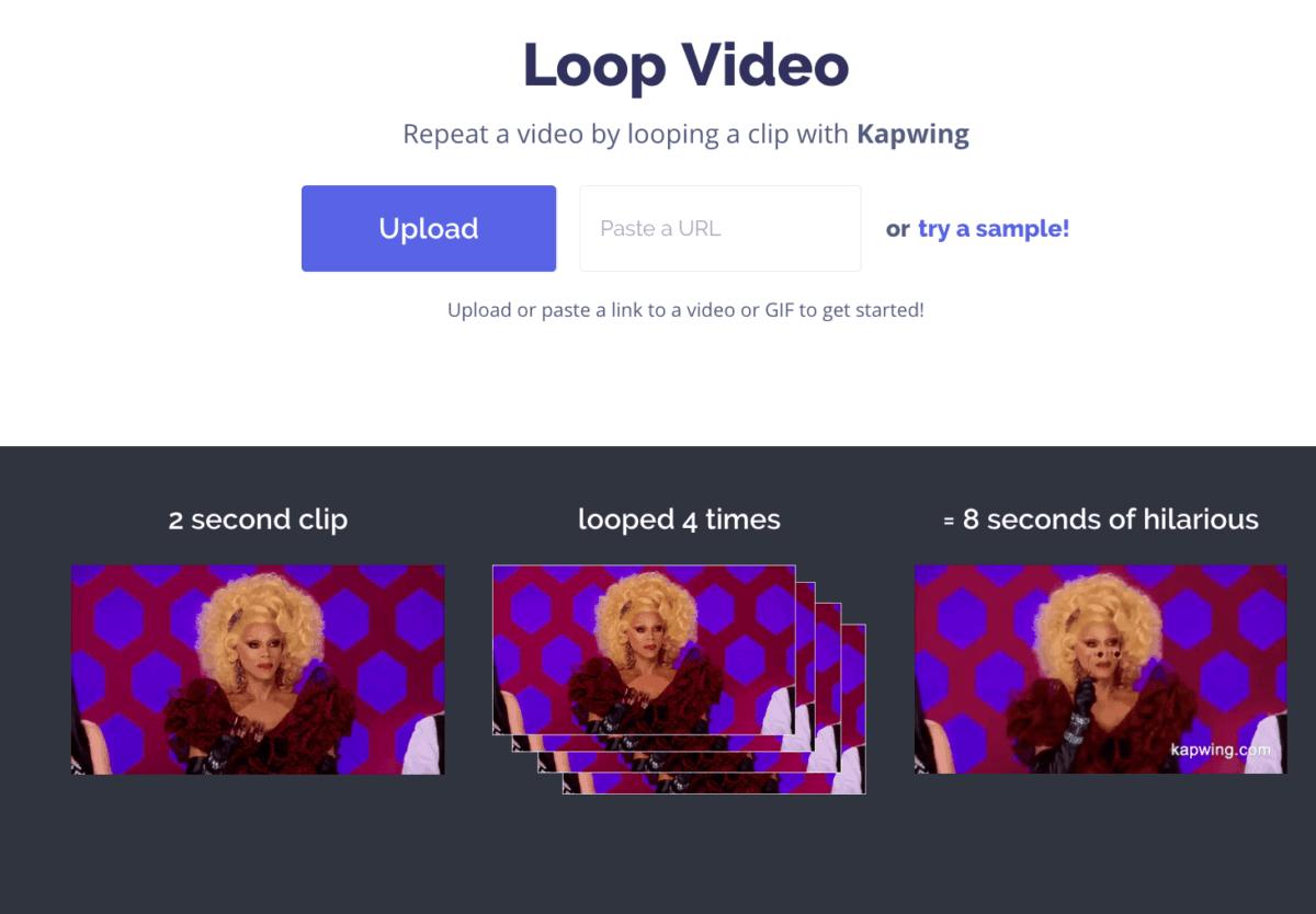 Kapwing Loop Video