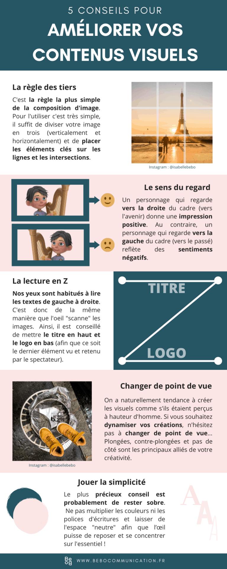 5 conseils pour améliorer vos contenus visuels