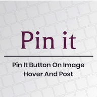 Pin It Button On Image Hover And Post