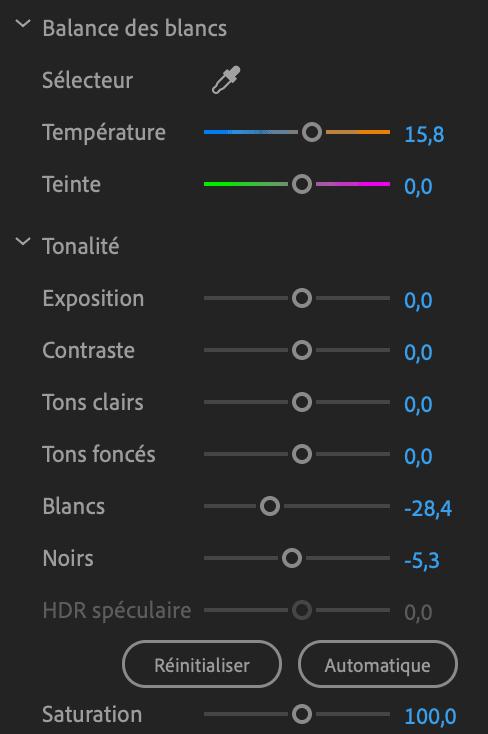 Comment faire une vidéo ? Correction colorimétrque outils 2
