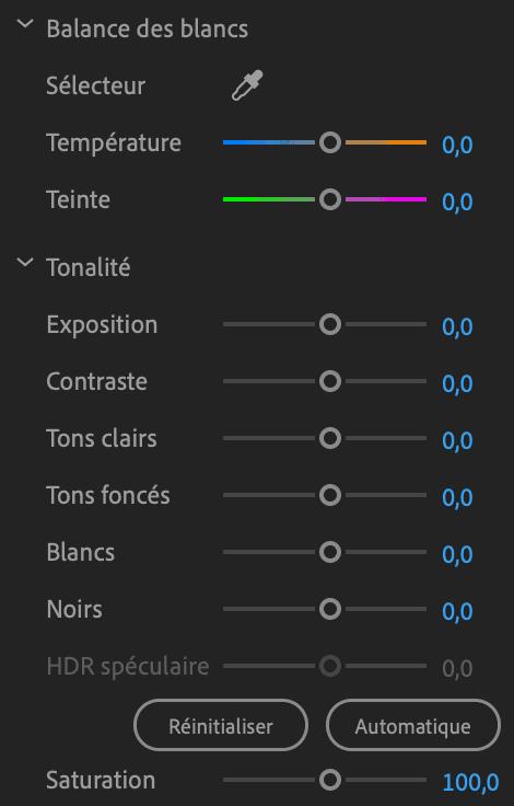 Comment faire une vidéo ? Correction colorimétrque outils
