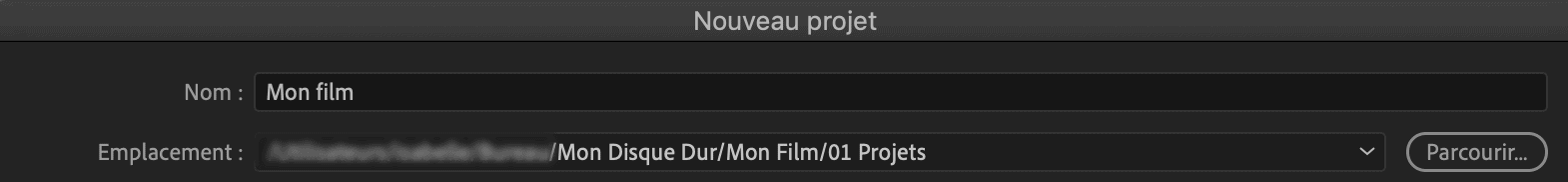 Comment faire une vidéo ? créer un projet dans le logiciel de montage