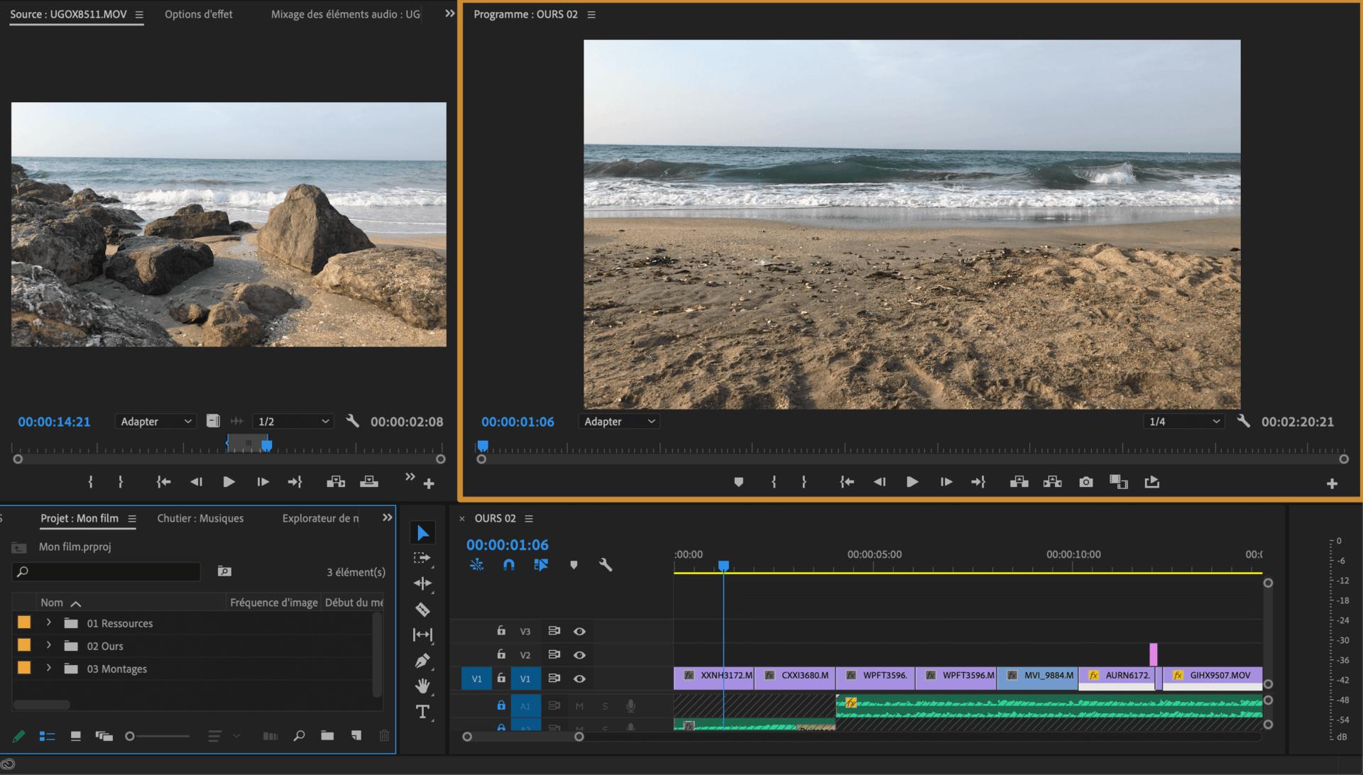 Comment faire une vidéo ? Espace de montage Le Visualisateur